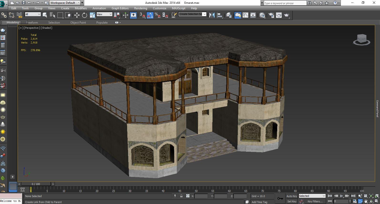 دانلود فایل معماری تری دی در مورد عمارت کوشک