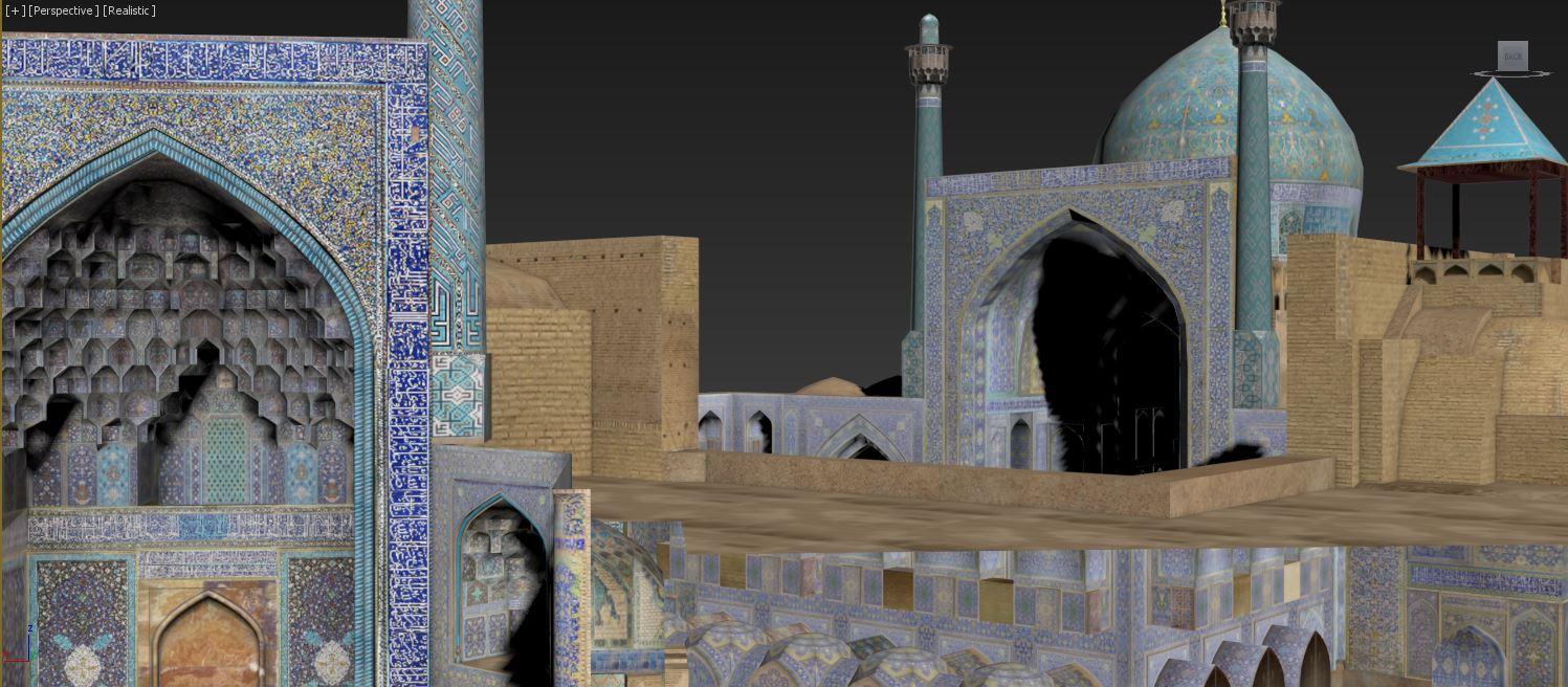 نمونه تصاویر های 3dmax معماری آرشیتکتی در مورد مسجد جامع عباسی